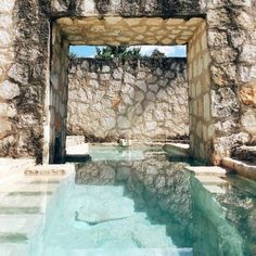 Stone Walls & Crystal Clear Personal Pool in Coqui Coqui Coba // via anitayung