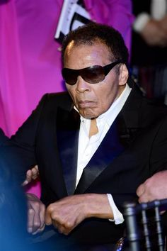 Muhammad Ali attends the Sports For Peace Fundraising Ball at The V&A on July 25, 2012 in London.