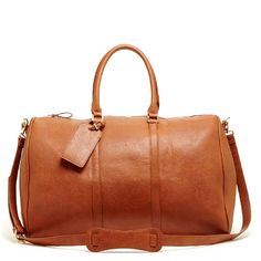 Leather weekender for the perfect getaway