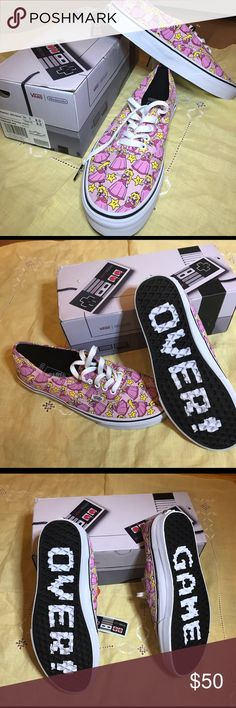 0c84d530f4 Princess peach never worn vans My lovely boyfriend went to England and came  home with princess