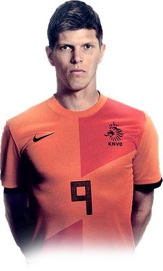 Dit is Klaas-Jan Huntelaar in het Nederlands elftal