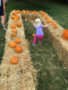 New for 2016's Fall Harvest - Pumpkin bowling!