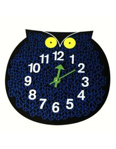 {George Nelson Zootimer Clock Omar The Owl} via Modern Seed