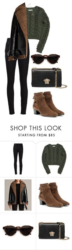 """Untitled #1259"" by elipenaserrano ❤ liked on Polyvore featuring Yves Saint Laurent, Opening Ceremony, AllSaints, RetroSuperFuture and Versace"