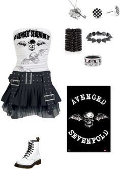 """""""Avenged Sevenfold..."""" by foreverbroken ❤ liked on Polyvore"""