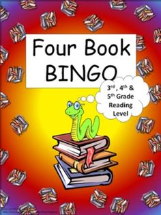 Four Book BINGO (3rd, 4th and 5th grade)- BUNDLE PACK- reading -   - This packet consist of 29 boards. 18 book specific boards and 11 category boards.     -This is a reading activity with a 'connect four' type of twist. Basically, the students read any four books in a row (horizontally, vertically, or diagonal) to complete the game board.