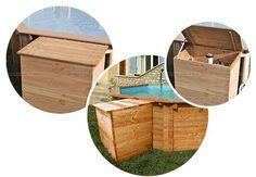 Coffre de filtration bois OSLO 1,2 x 1,14 x 0,80m pour piscine hors-sol sur VigiPiscine.com