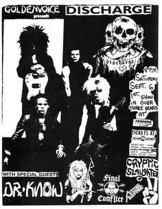 Punk Rock, Gigs And Flyers, Fenders Ballroom, Ballroom Long, Discharge Dr, Old Punk Flyers, Gig Flyers