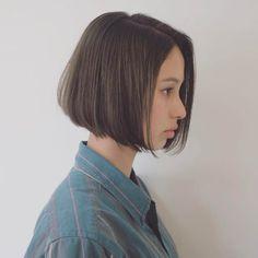 My Hairstyle, Fancy Hairstyles, Short Bob Hairstyles, Girl Hairstyles, Shot Hair Styles, Long Hair Styles, Japanese Haircut, Korean Short Hair, Shirt Hair