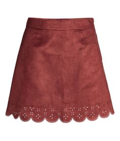Imitation Suede Skirt   H&M Divided