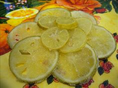 Candied Lime Slices - recipe from Food com, with help of Chef Neta at Food Network website. Snack Recipes, Dessert Recipes, Cooking Recipes, Snacks, Fruit Recipes, Sweet Recipes, Lime Slice Recipes, Orange Confit, Sweets
