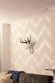 love the wallpaper & deer head