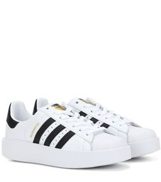 Buy it now. Superstar Bold Leather Sneakers. Superstar Bold White And Black Leather Sneakers By Adidas Originals , deportivas, sport, deporte, deportivo, fitness, deportivos, deportiva, deporte, courtvantage, stansmith, superstar, tubularviral, zx700, sueladentada, furylite, matrix, zxflux, mood, missstan, trainers, sporty, plimsoll. White Adidas originals  basic sneakers  for woman.