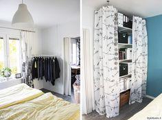 makuuhuone,moderni,turkoosi,vaaterekki,makuuhuoneen sisustus