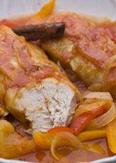 Peito de frango com molho exótico de canela