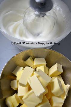 Krem Maślany na Bezie Szwajcarskiej - Swiss Style Meringue Buttercream Swiss Style, Baking Basics, Meringue, Cheesecake, Food And Drink, Fruit, Merengue, Cheesecakes