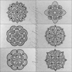 Anoushka Irukandji | Six tiny Moleskine Mandalas….   All the Notebooks...