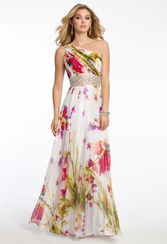 Printed One Shoulder Dress from Camille La Vie and Group USA