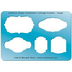 Jewelry Shape Template - Vintage Frames Large! Victorian shapes