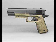 Recover Tactical Grip & Rail System For 1911 & Beretta Pistols 1911 Grips, 1911 Pistol, Colt 1911, Gun Vault, Guns Dont Kill People, Police Gear, Picatinny Rail, Cool Guns, Guns And Ammo