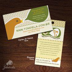 Cartão de Visitas e Etiqueta. Tom de Lá || www.tomdela.com.br