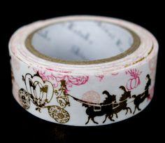 Beautiful gold foil Cinderella washi tape designed by Shinzi Katoh  http://www.maigocute.com/collections/washi-tape/products/cinderella-foil-shinzi-katoh-washi-tape