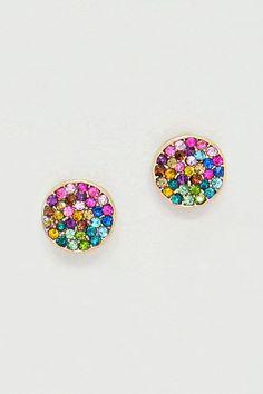 Crystal Pebble Earrings in Watercolor