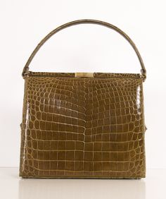 1950's mock croc box bag.