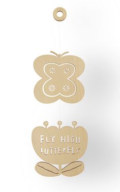 BUTTERFLY - Wooden Mobile.