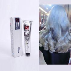 New Silver Grey Hair Color Cream Super Hair Dye Non-toxic Personalized Color for DIY Hair Style