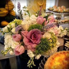 Matlack Florist for Alberti Popaj/QVC: floral blooms, tulips, hydrangea and cabbage heads.