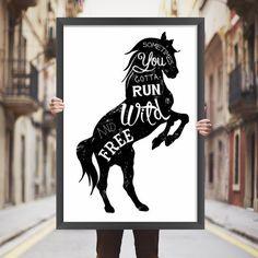 Placa decorativa cavalo - StickDecor | Decoração Criativa