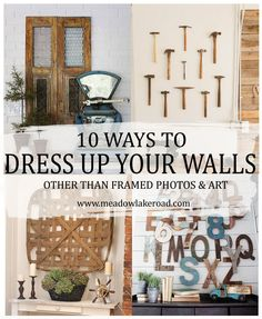 10 ways to dress up your walls other than hanging framed photos and art | Meadow Lake Road blog