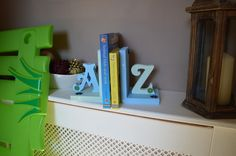 Letter and Shape Book Ends - Dancing Duck Designs Dancing Duck, Shape Books, Kids Bedroom, Bookends, Colours, Shapes, Lettering, Water, Design