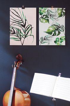 monstera – papurino sisustus A3, Illustration Art, Walls, Wands