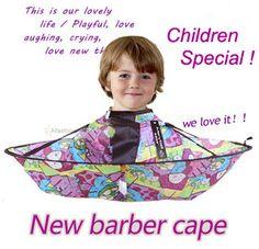 1ピース素敵な子供理髪岬子供便利折りヘアカット理髪スタイリングツール美容師用品エプロン防水