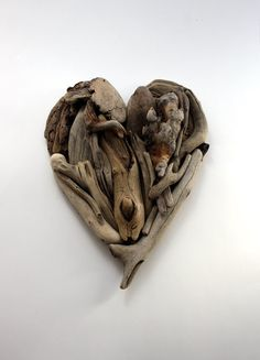 driftwood heart Valentine made from natural by Yalos on Etsy