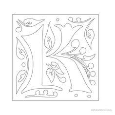 Printable greek alphabet stencil i for the home pinterest print free alphabet stencils gothic k pronofoot35fo Gallery