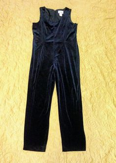 Items similar to Vintage Velvet Black One One-Piece on Etsy Vintage Velvet, My Etsy Shop, One Piece, Rompers, Trending Outfits, Shopping, Black, Dresses, Products