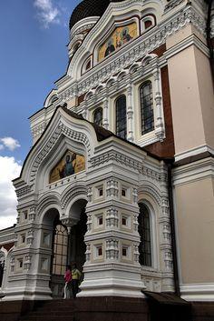 St Aleksandr Nevsky cathedral in Tallinn, Estonia