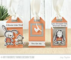 Tag Builder Blueprints 5 Die-namics, Snuggle Bunnies Stamp Set and Die-namics - Joy Taylor  #mftstamps