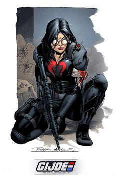 Baroness, from Cobra. Drawn by Robert Atkins, with colours from Simon Gough.