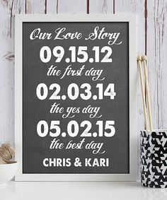 Another great find on #zulily! 'Our Love Story' Personalized Print #zulilyfinds