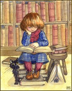 Little Reader by Leochi at deviantart.com (http://leochi.deviantart.com/art/Little-Reader-184693402?q=boost%3Apopular%20reader&qo=9)