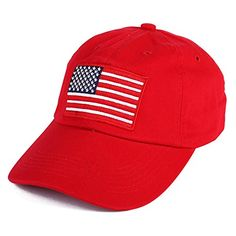 USA Flag Embroidered hat Adjustable American Flag Basebal   United States of America Star Spangled Banner old glory.   Click through for more information or to purchase this item.
