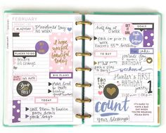 the 'Today is Your Day' sticker value pack + theMINI 'Super Fun' Happy Planner®by mambi Design Team member Gretchen Klobucar | me & my BIG ideas