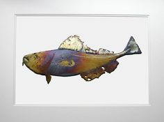 Ray Cox, pewter codfish Codfish, Newfoundland, Illustrations Posters, Pewter, Moose Art, Artist, Animals, Tin Metal, Animales