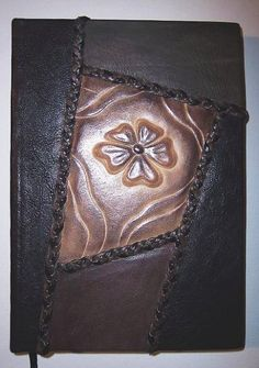 handmade book of genuine leather