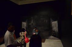 Estúdio improvisado no estilo das décadas de 40 e 50. Exposição, Palácio das Artes, BH, MG, Brasil.