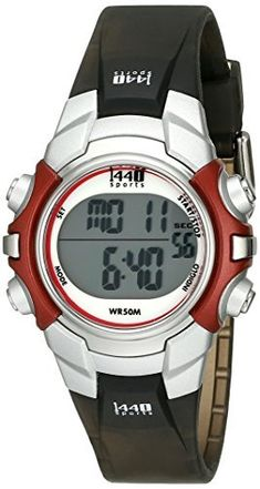 Timex Unisex T5G841 1440 Sports Digital Silver-Tone/Black Resin Strap Watch  #1440 #Digital #Resin #SilverTone/Black #Sports #Strap #T5G841 #Timex® #Unisex #Watch MonitorWatches.com